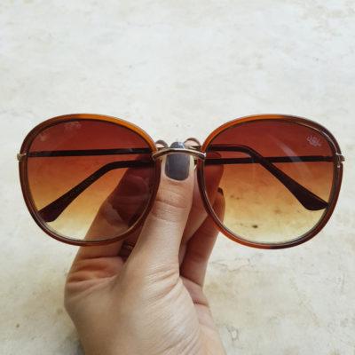 Óculos de Sol Maya Marrom Fosco