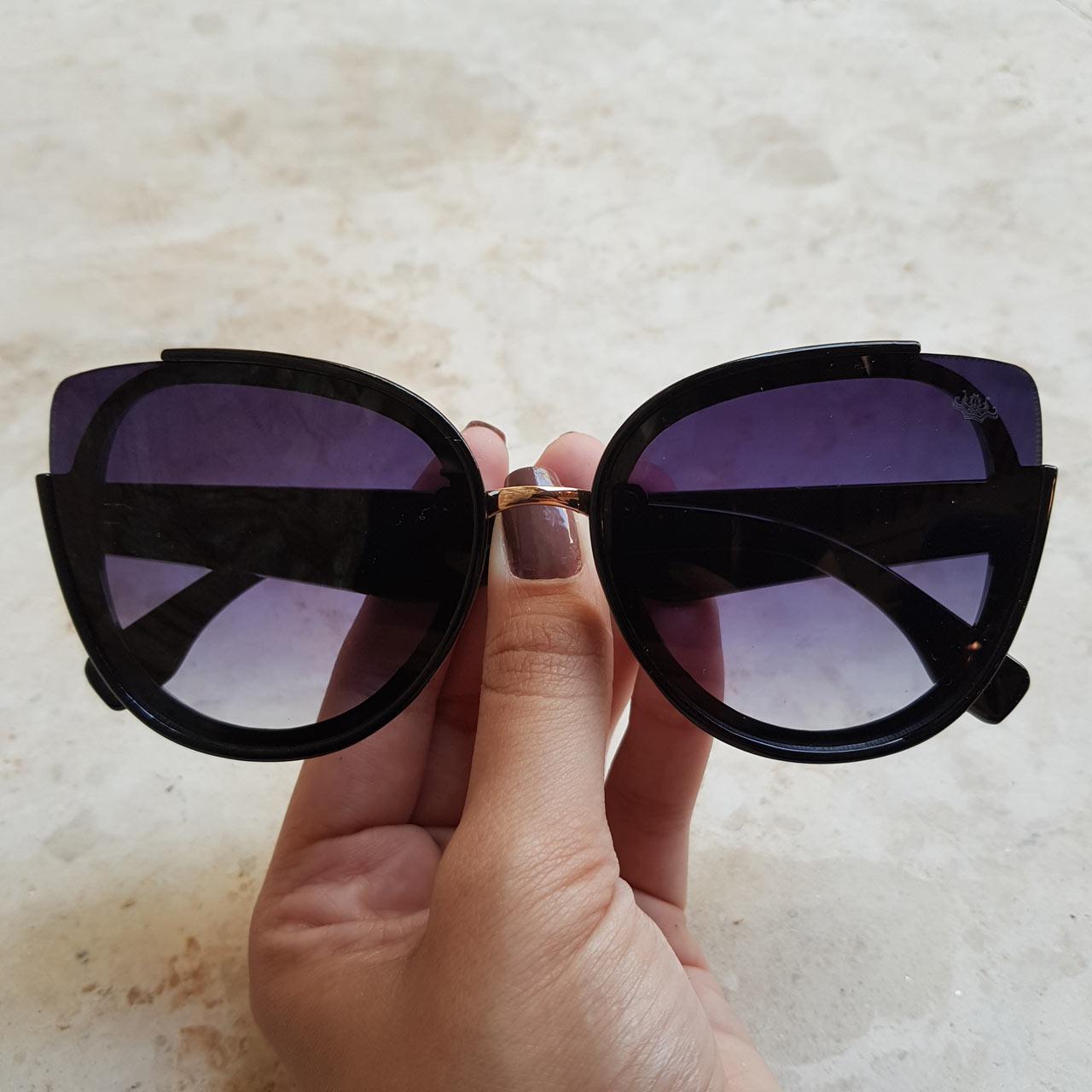 9fc39eadd6e25 Óculos de Sol Violeta Preto – Dondoca Moda Feminina